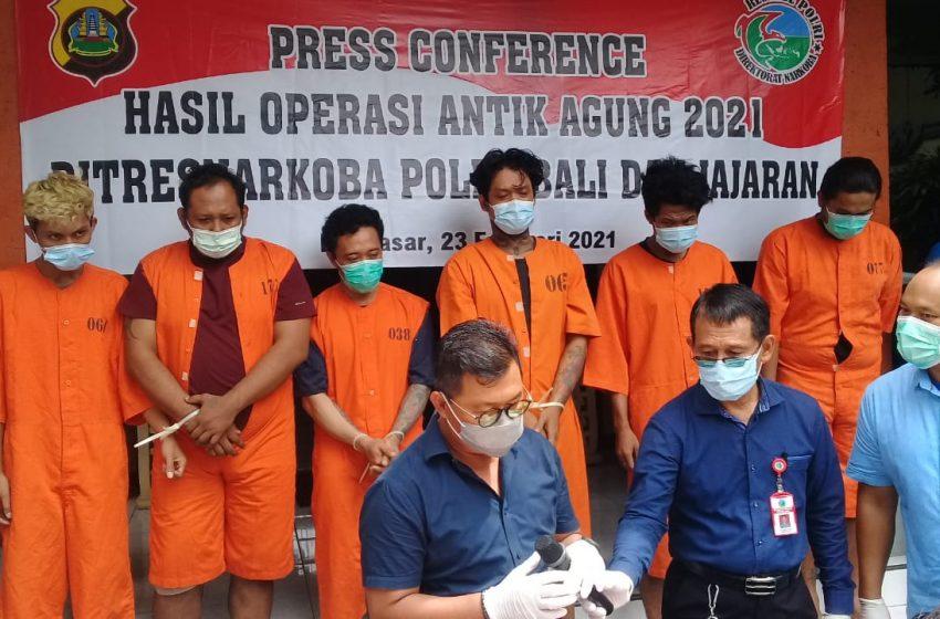 Polda Bali Tangkap 72 Pengedar Narkotika
