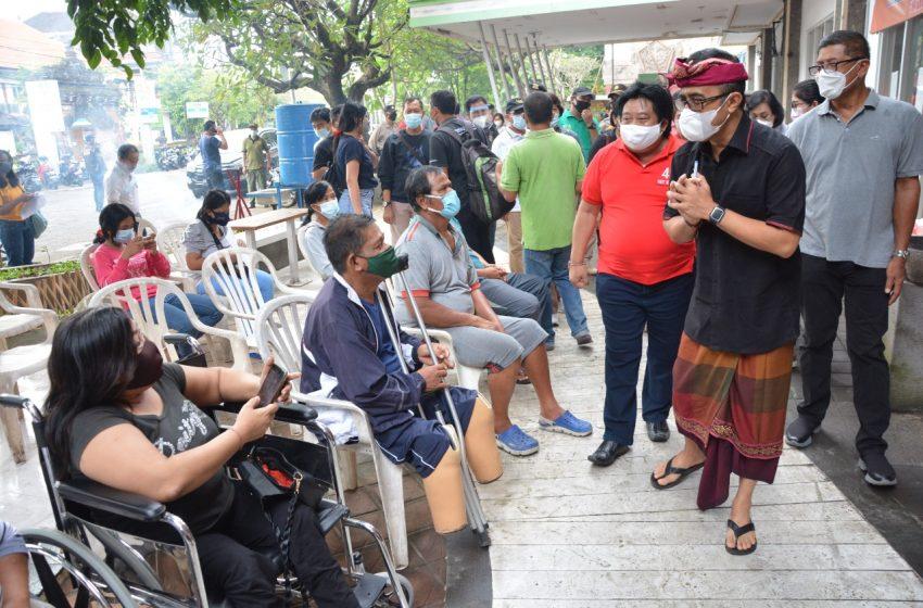 Walikota Jaya Negara Pastikan Disabilitas Dapat Vaksin Covid-19