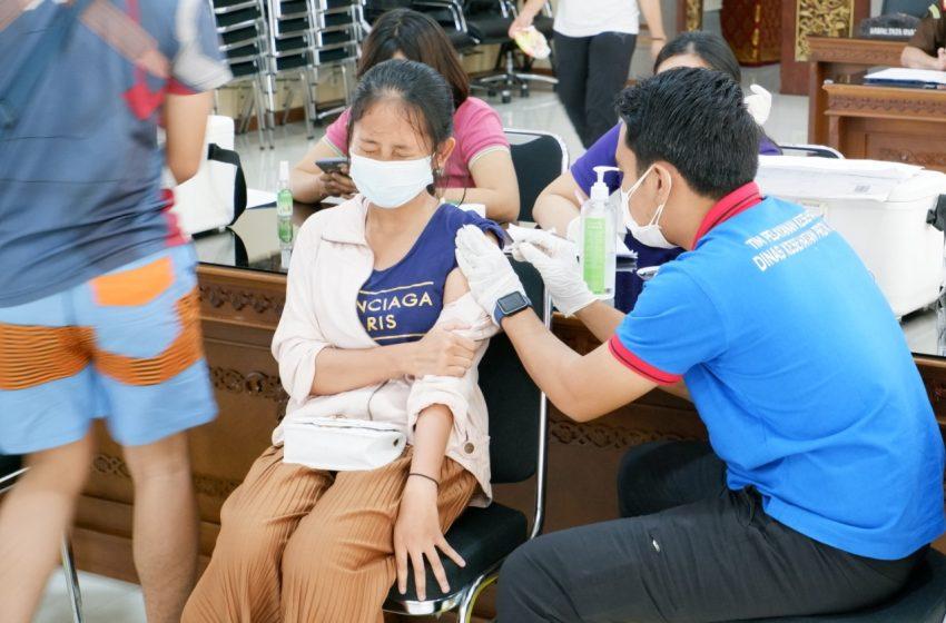 Kejati Bali Gelar Vaksinasi Anak Dosis Pertama