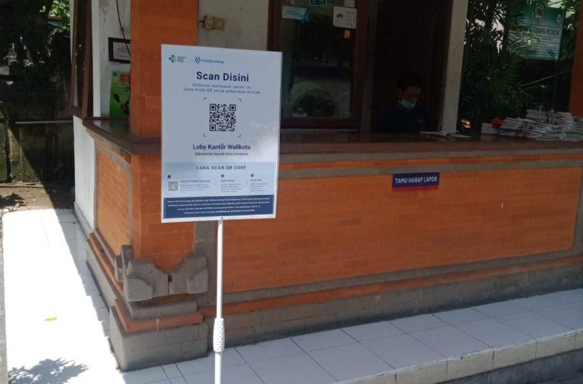 Perkantoran dan Mal di Denpasar Terapkan Aplikasi Peduli Lindungi